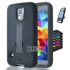 For Samsung Galaxy Note 5 Hybrid Hard Rubber w T Stand Case Colors
