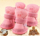 4 Pcs Winter Pet Dog Cotton Blend Snow Shoes Puppy Boots Paw Protection All Size