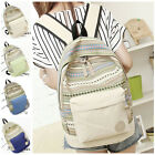 New Girl Women Canvas Travel Satchel Shoulder School Book Bag Rucksack Backpack