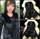 Slim Womens Winter Faux Fox Fur & Sheep Skin Coat Jacket Parka Overcoat WFR