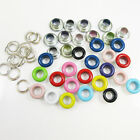 50 x ROUND 5mm COLOURED EYELETS & WASHERS LEATHER CRAFTS REPAIR DIY CRAFTS