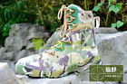 Mens high top military Lace up comabt Boots hiking shoes mutile color Casual SZ