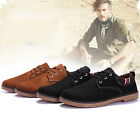 Fashion Nubuck Leather shoes men sneaker Flats breathable casual shoes large