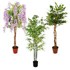 LARGE ARTIFICIAL POTTED TREES - HOME OR OFFICE DECORATION - REALISTIC FOLIAGE