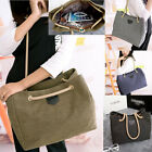 Simple Fashion Lady Women Canvas Shoulder Handbag Messenger Satchel Tote Bag