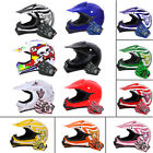LEOPARD Youth Kids Junior Motorbike Motorcycle Motocross MX Crash Helmet &Gloves