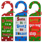 CHRISTMAS GLITTERY MESSAGES TO SANTA DOOR HANGERS – FESTIVE HANGING HOME DECOR