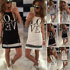 Fashion Sexy Womens Summer Casual Short Sleeve T-Shirt Party Long Tee Mini Dress