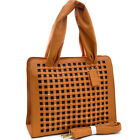 Dasein Studded Cut-Out Tote Bag with Shoulder Strap