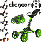 2015 Clicgear Model 8.0 Golf Trolley Performance 4-Wheel Mens Push Cart