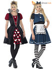 Ladies or Teen Girls Dark Alice Queen of Hearts  Costume Halloween Fancy Dress