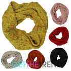 Womens Multicolour Wooley Winter Snood Ladies Knitted Cowel Cowl Snood Scarf