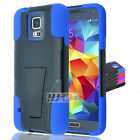 For Samsung Galaxy Hybrid Rubber Hard Y Stand Case Colors