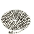10/20/40 Pcs Charm Stainless Steel Ball Chain Necklace With Matching Connector