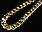 10K Yellow Gold Miami Cuban Link 9MM Chain Necklace Box Clasp 24-36 Inches