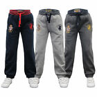 Boys Bottoms Santa Monica Kids Jogging Running Trousers Pants Fleece Winter New