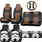 Synthetic Leather Seat Cover Star Wars Stormtrooper Rubber Floor Mat Universal $109.95 USD on eBay