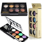 Round Party Bright Charm Eye shadow Palette Make Up 8 Colors Warm Smoky Cosmetic