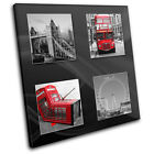 London Red Bus Phonebox   City CANVAS WALL ART Picture Print VA