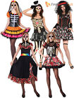 Ladies Day Of The Dead Halloween Skeleton Fancy Dress Costume Size 10 12 14