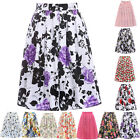 Homecoming Womens Mini Dress Skirt Casual Slim High Waisted Pleated Floral Skirt