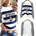 New Casual Women Round Neck Pullover Sweatshirt T-Shirt Long Sleeve Tops Blouse