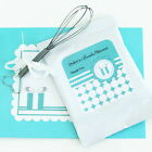 24 Personalized Something Blue Theme Hot Cocoa Mix Pouches Wedding Favors