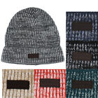 True Religion Jeans Men's 2 Tone Cashmere Knit Beanie Hat Watchcap