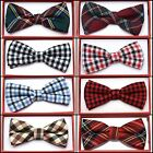Plaid Flannel Toddler Bow Tie for Boys Girls Kid Child School Picture Wedding