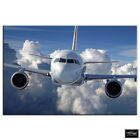 Airplane Jumbo Jet   Transportation BOX FRAMED CANVAS ART Picture HDR 280gsm