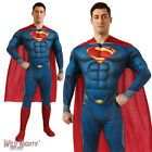 """FANCY DRESS COSTUME ~ MENS DELUXE MAN OF STEEL SUPERMAN MUSCLE CHEST SIZE 38""""-46"""