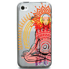 TPU Case for iPhone 4/4s - Meditation Monk Lotus
