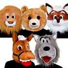 Animal Masks Adults Fancy Dress Farm Zoo Story Book Ladies Womans Mens Costume