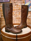 Clarks Brown Leather Buckle Detail Plaza Pilot Riding Boot  NEW