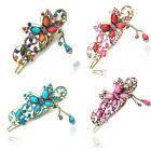 Crystal alloy Wholesale butterfly claw Rhinestone Hair Clip Jaw Hairpin UK96