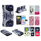 For iPhone Samsung Terrific Synthetic Leather Stand Credit Card Flip Case Cover