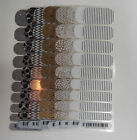 Jamberry Wraps Half Sheet Current Styles in Silver, Gold, White