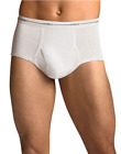6 Hanes Men's White Briefs 2252P3