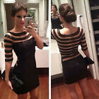 Sexy Women Black Sequins Lace Evening Party Cocktail Bodycon Short Mini Dress