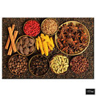 Food Kitchen Indian Spices   BOX FRAMED CANVAS ART Picture HDR 280gsm