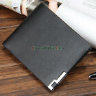 Fashion Men's PU Leather Ultrathin Wallet Pocket Card Clutch Cente Bifold Purse