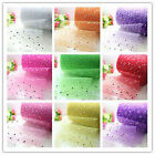 "100yd 6"" sparking sequin tulle fabric tutu trim DIY Wedding party Decoration"