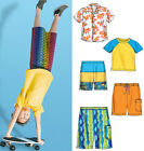 McCalls Easy Childrens/Boys Sewing Pattern 6548 Shirt, Top & Shorts