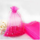 20-100 Rose Organza Wedding Gift Bag Jewelry Packing Pouches 7x9/12x9/13x18cm