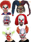 Scary Evil Sinister Clown Full Latex Mask Halloween Horror Fancy Dress Costume