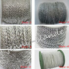 Внешний вид - 1/5m Silver Plated Cable Open Link Metal Chain Finding 1/3x2/3x4/6x4/8x7/10x5mm