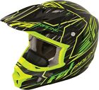 NEW FLY RACING KINETIC PRO COLD WEATHER SPEED MX HELMET HI VIS/ BLACK ALL SIZES
