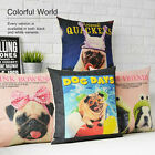 "Colorful Cartoon Cute Animal Dog Pillow Case Cushion Cover Square 17"" Home Decor"