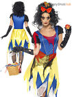 Ladies Snow White Fright Sexy Fairytale Zombie Costume Halloween Fancy Dress