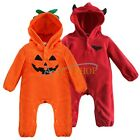 Halloween New Newborn Boy Girl Clothes Baby facial Hoodies Infant Romper Clothes